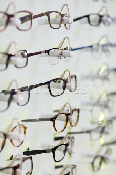 Close-up of various spectacles on display Stock photo © wavebreak_media