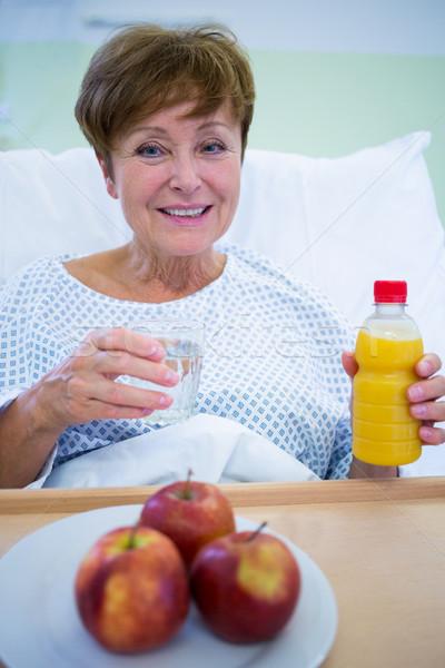 Portrait of smiling patient having a breakfast Stock photo © wavebreak_media