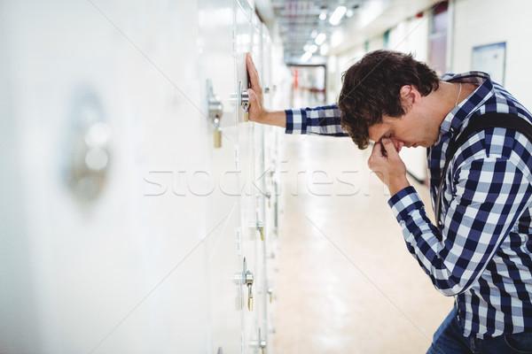 печально студент ящик колледжей человека Сток-фото © wavebreak_media