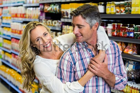 S'ennuie couple organique supermarché Photo stock © wavebreak_media