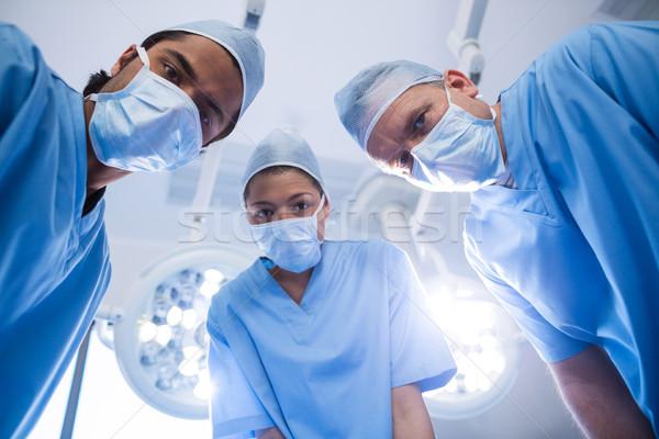 Foto stock: Retrato · cirujanos · operación · habitación · hospital · feliz