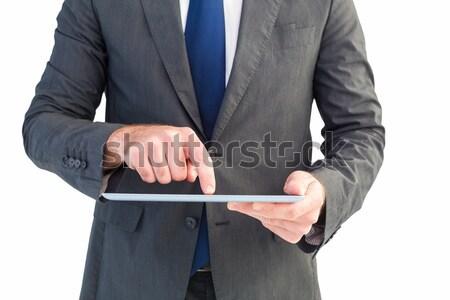 Zakenman digitale tablet internet man Stockfoto © wavebreak_media