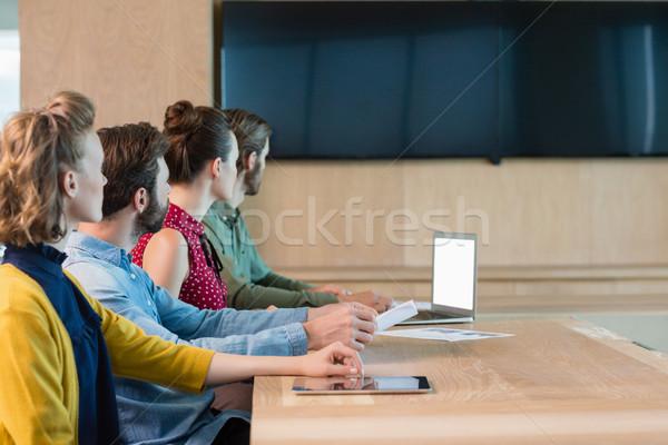 Business ascolto presentazione sala conferenze ufficio Foto d'archivio © wavebreak_media