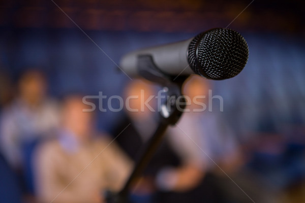Mikrofon Konferenzraum Business Sitzung Konferenz Platte Stock foto © wavebreak_media