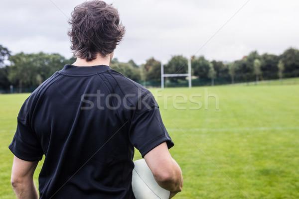 Rugby jogador olhando homem mundo evento Foto stock © wavebreak_media