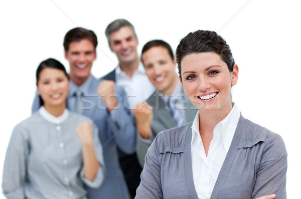 Positive business partners punching the air in celebration  Stock photo © wavebreak_media