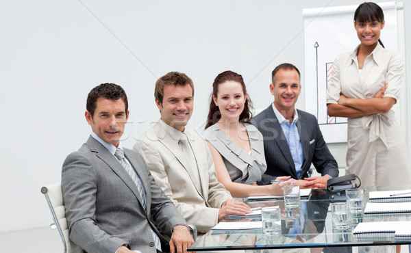 Stock photo: Business people in a presentation