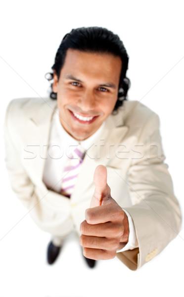 Cheerful businessman with thumb up  Stock photo © wavebreak_media