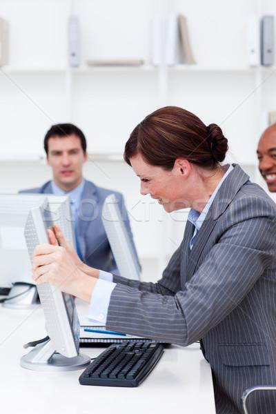 üzletasszony csalódott számítógép munka Stock fotó © wavebreak_media