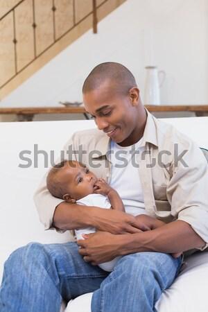 Father with his sick child Stock photo © wavebreak_media