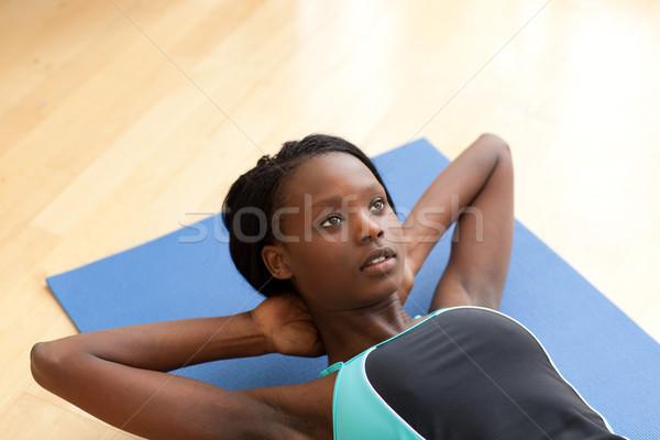 очаровательный женщину спортзал одежды человека тело Сток-фото © wavebreak_media