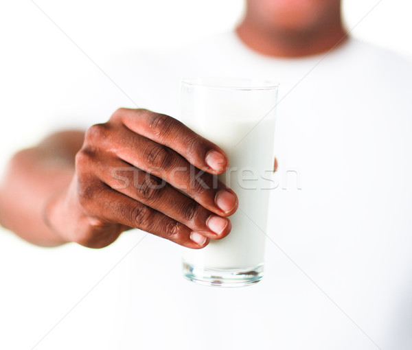 Hombre leche joven alimentos médicos Foto stock © wavebreak_media