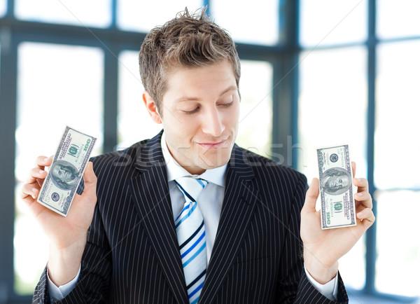 Jovem empresário dólares escritório negócio Foto stock © wavebreak_media