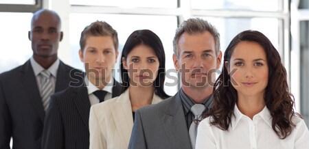 Sérieux affaires leader équipe commerciale bureau réunion Photo stock © wavebreak_media