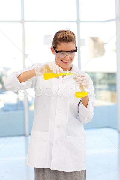 Güzel bilim adamı genç iş kadın Stok fotoğraf © wavebreak_media