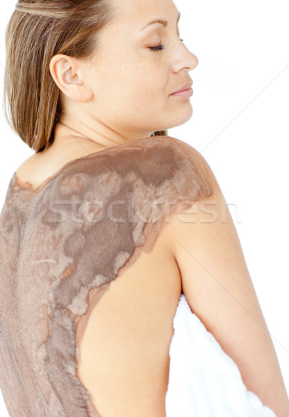 Portre parlak kadın çamur cilt tedavi Stok fotoğraf © wavebreak_media