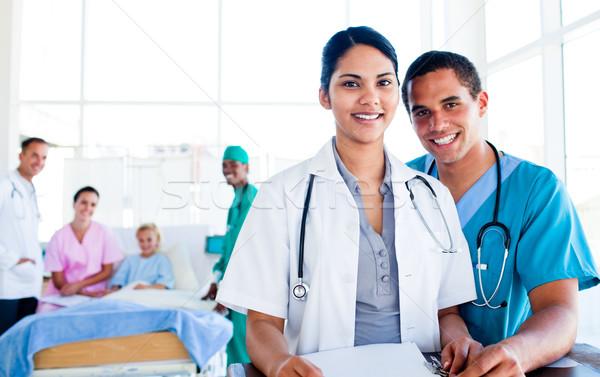 肖像 医療 チームワーク 病院 作業 健康 ストックフォト © wavebreak_media