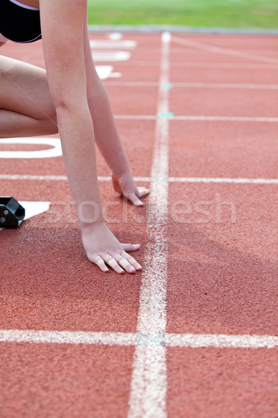 Femme attente fitness été exercice Photo stock © wavebreak_media