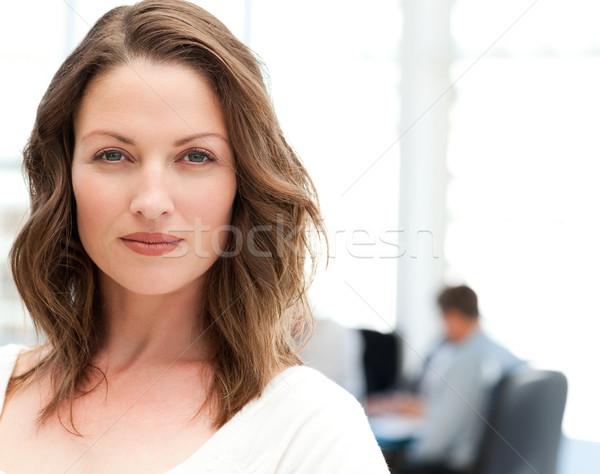 Portret charyzmatyczny kobieta spotkanie zespołu pracy Zdjęcia stock © wavebreak_media