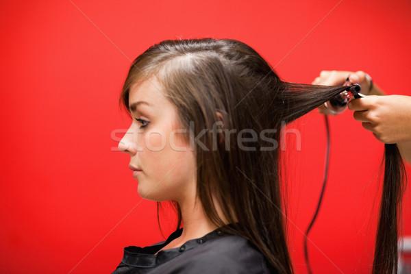 Kobieta włosy czerwony działalności moda pracy Zdjęcia stock © wavebreak_media