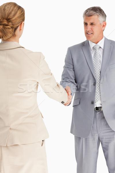 деловые люди соглашение белый рук бизнесмен рукопожатие Сток-фото © wavebreak_media