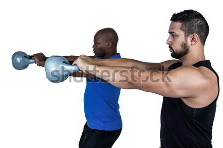 вид сбоку два белый фитнес Сток-фото © wavebreak_media