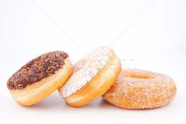 Trois sucre glace up blanche chocolat manger Photo stock © wavebreak_media