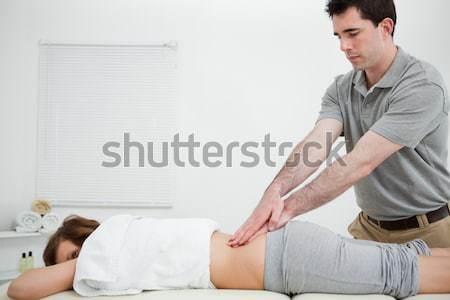 Nő nyújtott szoba férfi orvosi női Stock fotó © wavebreak_media