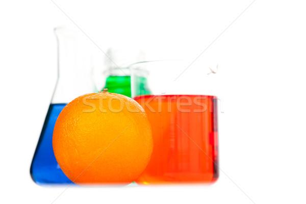 オレンジ 白 フルーツ ガラス 薬 青 ストックフォト © wavebreak_media