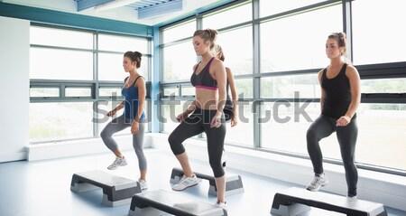 Felice donna break aerobica classe Foto d'archivio © wavebreak_media