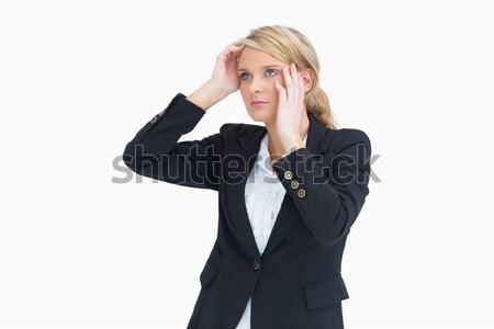 Businesswoman looking thoughtful while wondering Stock photo © wavebreak_media