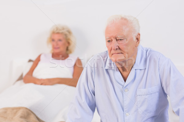 Yaşlı çift yatak odası kadın ev kadın erkek Stok fotoğraf © wavebreak_media
