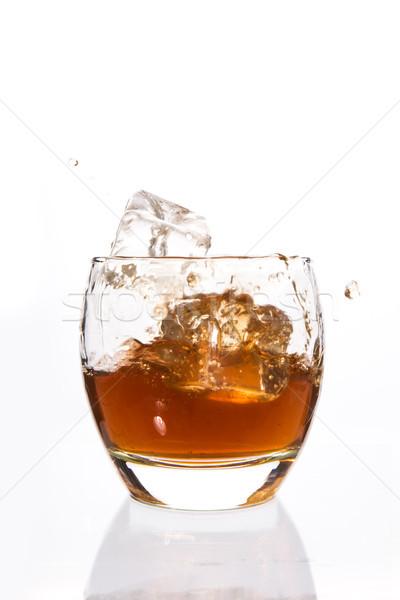 Jégkockák zuhan zsonglőr whiskey fehér ital Stock fotó © wavebreak_media