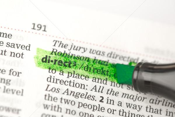 Doğrudan tanım yeşil sözlük eğitim Stok fotoğraf © wavebreak_media