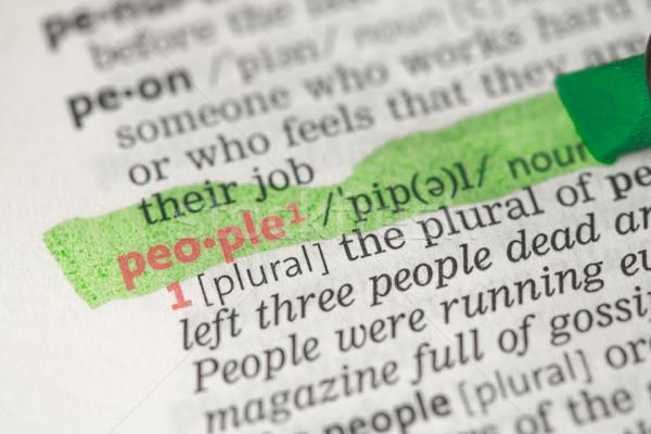 Emberek meghatározás zöld szótár piros Stock fotó © wavebreak_media