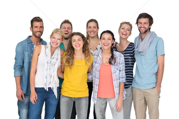 Portré lezser derűs emberek fehér csoport Stock fotó © wavebreak_media