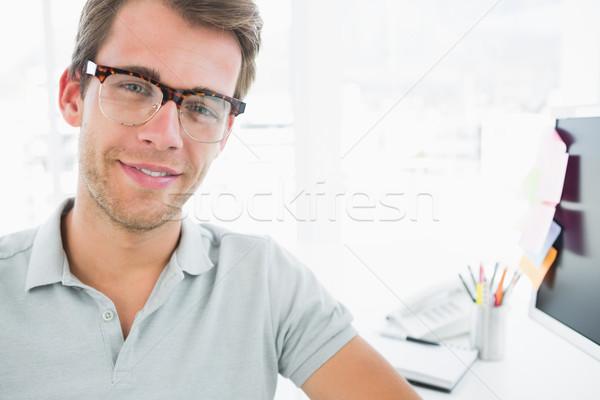 Retrato casual masculino foto editor sorridente Foto stock © wavebreak_media