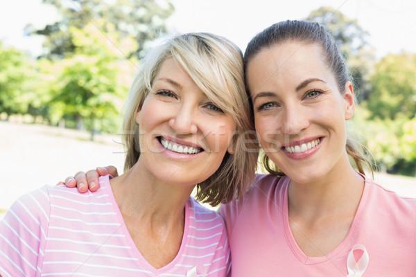 Female volunteers participating in breast cancer awareness  Stock photo © wavebreak_media