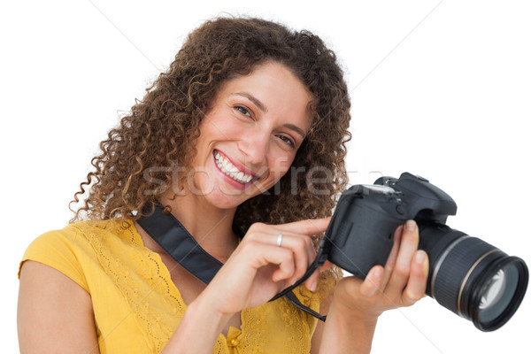портрет женщины фотограф белый технологий фотографии Сток-фото © wavebreak_media
