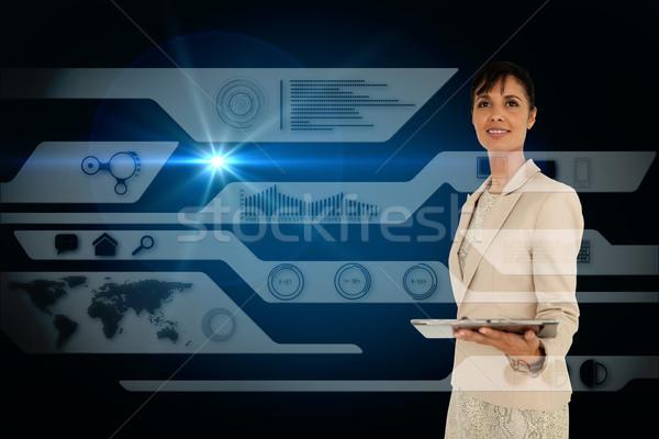 Femme d'affaires comprimé composite numérique affaires femme Photo stock © wavebreak_media