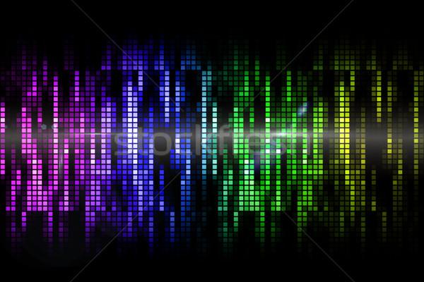 Cool pixel colorato nero party verde Foto d'archivio © wavebreak_media