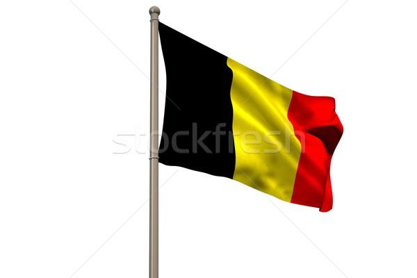 Digitalmente gerado Bélgica bandeira branco Foto stock © wavebreak_media