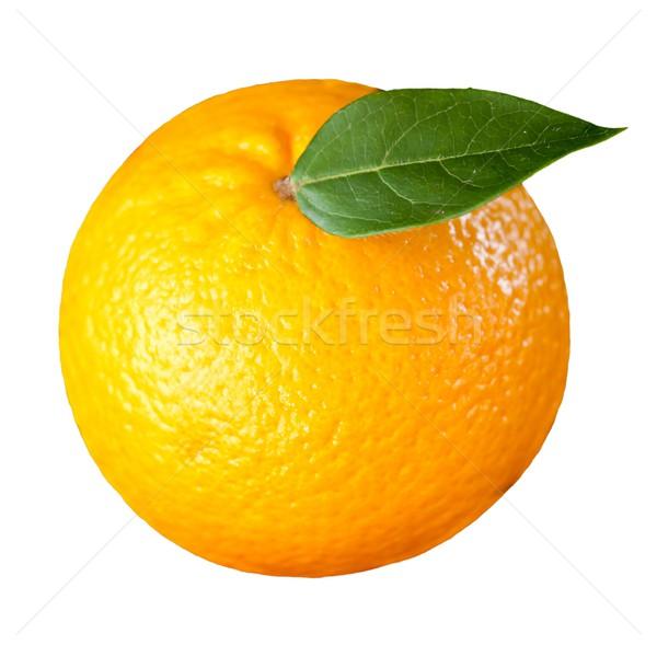 Oranje groen blad witte blad vers dieet Stockfoto © wavebreak_media