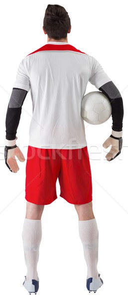Goalkeeper standing in white jersey Stock photo © wavebreak_media