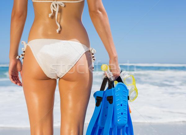 Montare donna bianco bikini Foto d'archivio © wavebreak_media