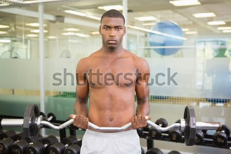 Torse nu musculaire homme résistance bande gymnase Photo stock © wavebreak_media