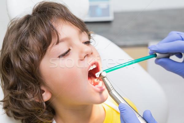 Dentysta mały chłopców zęby Zdjęcia stock © wavebreak_media