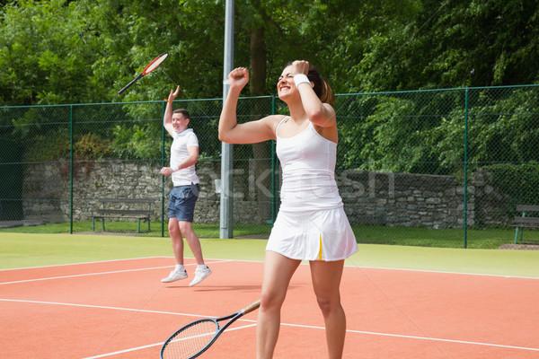 テニス チーム 祝う 勝利 スポーツ ストックフォト © wavebreak_media