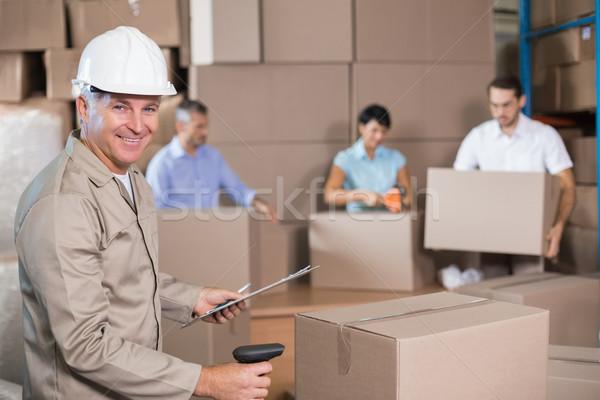Halle Arbeitnehmer Sendung groß Business Frau Stock foto © wavebreak_media