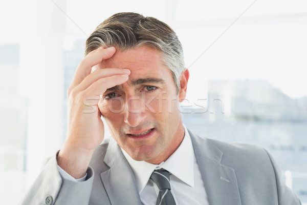 Zakenman lijden hoofdpijn werk business kantoor Stockfoto © wavebreak_media